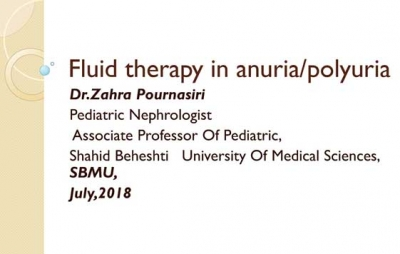 Fluid therapy in anuria / polyuria